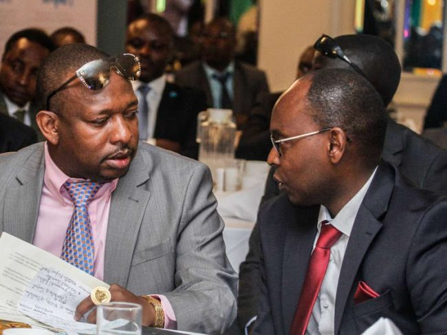 Nairobi Governor Mike Sonko with County Executive Charles Kerich [Photo, Courtesy]